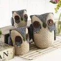 Jute Owl Figurine Furnishing Articles
