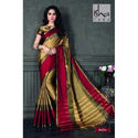 Multicolor Wedding Wear Casual Cotton Saree, With Blouse