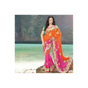 Bridal Georgette Sarees with Blouse Piece