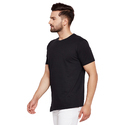 Men's Half Sleeves Round Neck Self Design 100% Cotton T-shirt