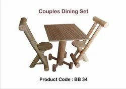 Natural Modern Bamboo Dining Table, For Indoor