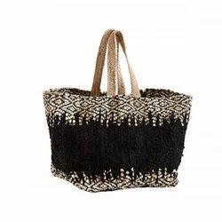 Printed Casual Wear Woven Rug Bag