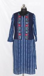 Ladies Cotton Embroidery Kurti