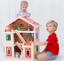 Wooden House 1269, Size/dimension: L20 X W10 Xh25 Inch