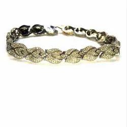 Party Wear Beautiful Natural Diamond Bracelet in 925 Sterling Silver
