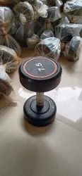 Fixed Weight Rubber Gym Dumbells