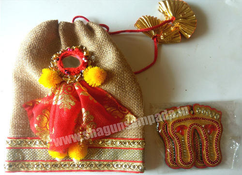 Un Sada Jute Potli Shaadi Gift Jute Pouch Indian Wedding Favor