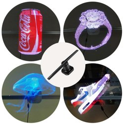 3D Holographic LED Display Fan