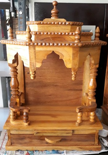 Brown Wall Mounted Wooden Temple