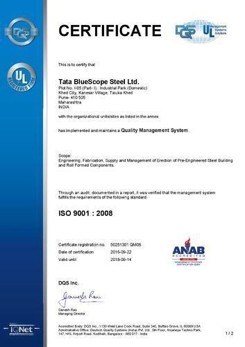 Tata Bluescope Steel - Manufacturer from Shivajinagar, Pune