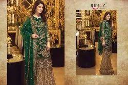 Rinaz Fashion Zebtan Net With Embroidery Pakistani Salwar Kameez