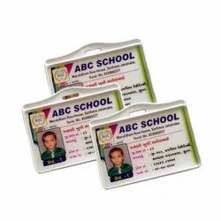 White Rectangular Digital Screen PVC ID Card