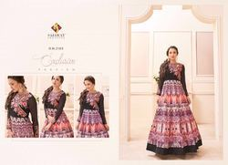 Black Printed Designer Anarkali Suit