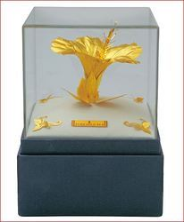 Golden Hibiscus, Area / Size: 6.5'' X 5''