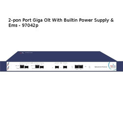 Metal 2-pon Port Giga OLT with Builtin Power Supply & Ems, For Ftth, Model Name/Number: 2portolt