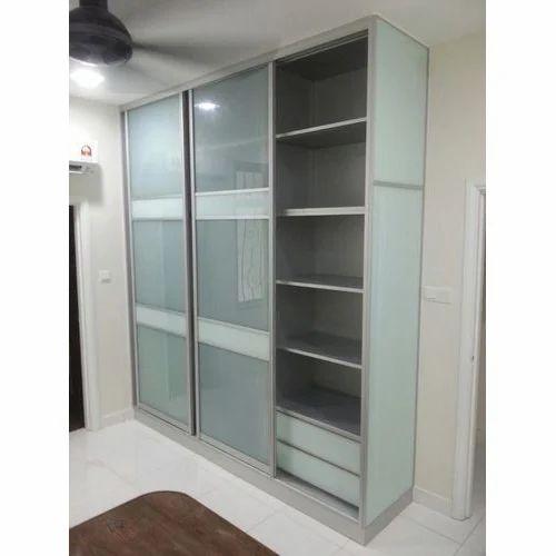 Aluminum Modular Kitchen Designing In Chromepet Chennai: Aluminium Sliding Wardrobe At Rs 23000 /piece