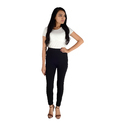 Black Side white moti and pearl leggings