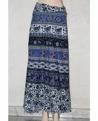 Jaipuri Cotton Wrap Skirt