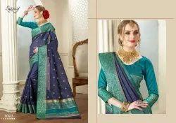 Party Wear Cotton Silk Zari Saree