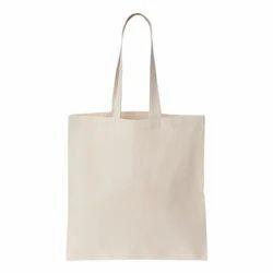 White Plain Cotton Canvas Tote Bags