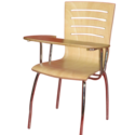 Omacme Brown Plywood Writing Pad Chair