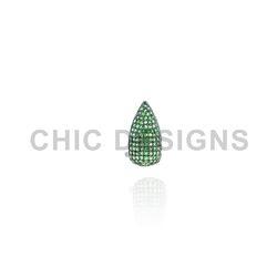 Tsavorite Gemstone Nail Ring