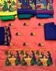 Embroidery Fancy Unstitched cotton suit