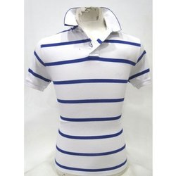 Mens Blue & White T-Shirt