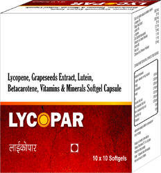 Lycopene Grapeseeds Extract Lutein Betacarotene Vitamins and Minerals Softgel Capsule