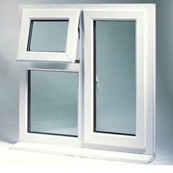 UPVC Vertical & Hinged Residential Window, Height: 5 to 6 feet