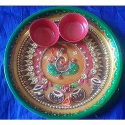 Painted Pooja Thali