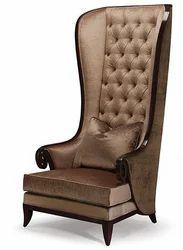 Fabric Retro Wingback Chair
