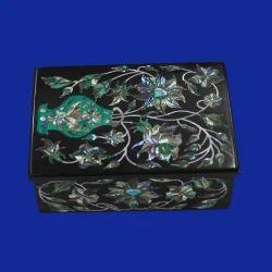 White Inlay Marble Box