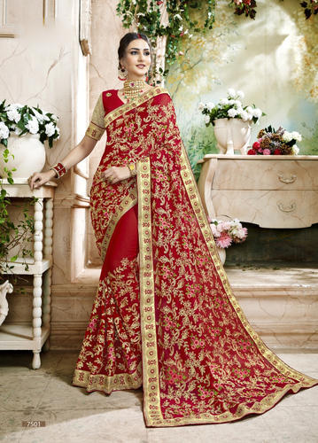 70ac0a183f Georgette Partywear Saree With Blouse Piece, Saree Length: 5.5 M, Rs ...