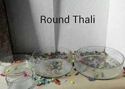 Round Thali Glass Vase