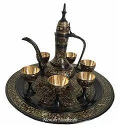 Brass Black Wine Set
