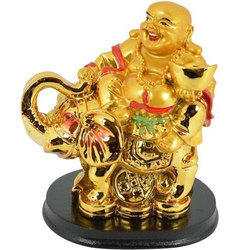 Feng Shui Laughing Buddha with Elephant