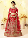 Satin Silk Heavy Embroidery Work Lehenga Choli for Women