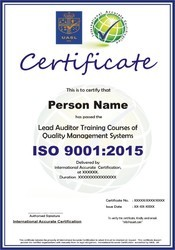 ISO 9001:2015 Lead Auditor(LA) and Internal Audit(IA) Training