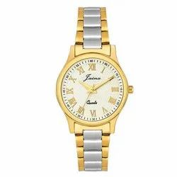 Jainx White Dial Round Two Tone Analog Watch for Women JW1201