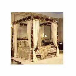 Wooden Designer Bed, Size: 6 X 5 Feet