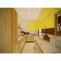 Bright Color Modular Kitchen