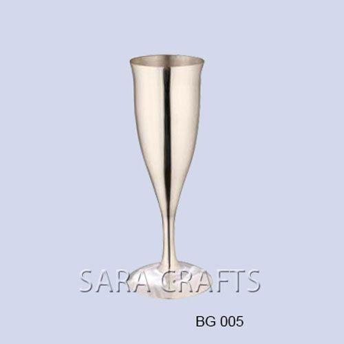 Silver Champagne Flute Glass