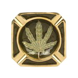 Brass Ashtray Leaf Design 8.5cm