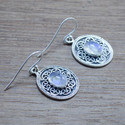 925 Silver Handmade Jewelry Rainbow Moonstone Earring We-5513
