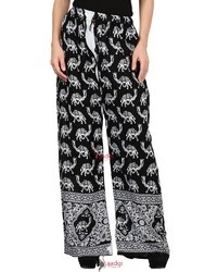 Saadgi Hand Block Print Pure Rayon Plazo Pants for Women
