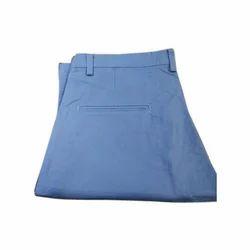 Mens Blue Cotton Trouser