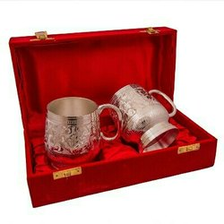 Silver Plated Brass Beer Mug