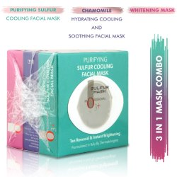 O3  3 in 1 Mask Combo Kit - Whitening Mask, Purifying Sulfur Cooling Facial Mask and Chamomile Hydra