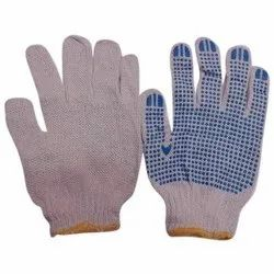 Cotton Hand Knitted Dotted Glove